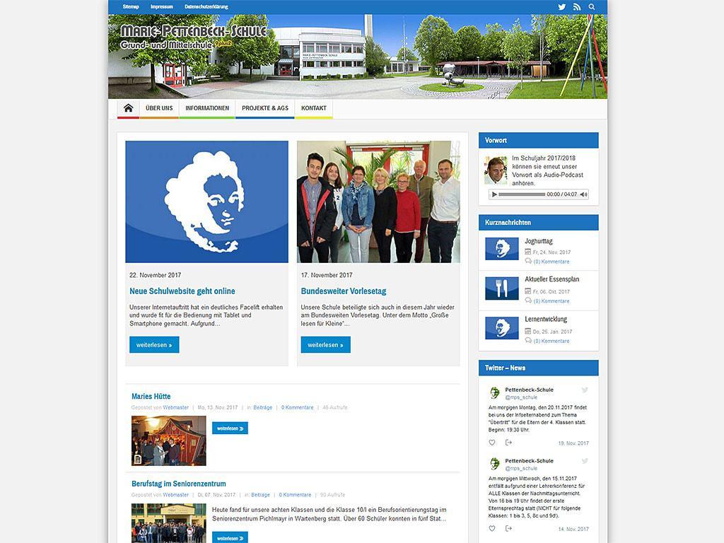 Neue Schulwebsite geht online